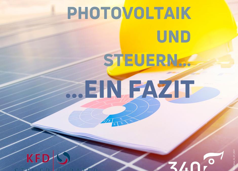 Photovoltaik und Steuern: Ein Fazit